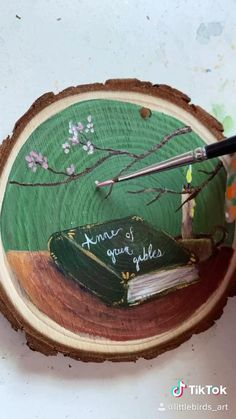 Wooden Painting, Wood Slice Crafts, Posca Art, Art Painting Gallery, Watercolor On Wood, Fun Arts And Crafts, Wood Ornaments, Wood Slices, Diy Art