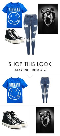 """Nirvana Outfit×××"" by xxbandprincesxx ❤ liked on Polyvore featuring Nirvana, Topshop and Converse"