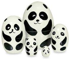 panda bear Matryoshka nesting dolls