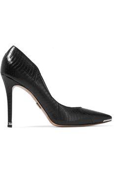 MICHAEL KORS Avra elaphe pumps. #michaelkors #shoes #pumps