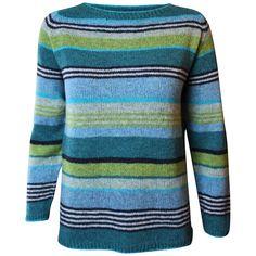 Strikkeopskrift på Gavstrik - turkis. Klassisk bluse i A-facon der er anvendelig hele året. Strikkes i Supersoft, Tvinni eller tilsvarende kvalitet. Løbelængde