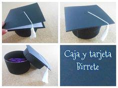 DIY caja + tarjeta en forma de birrete / regalos de graduación - YouTube