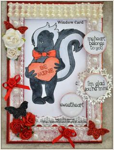 Beccy's Place Window Cards, Digital Image, Valentines Day, Paper Crafts, Stamp, Places, Animals, Valentine's Day Diy, Animales