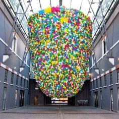 Plastic Bags. Pascale Marthine Tayou. art instillation