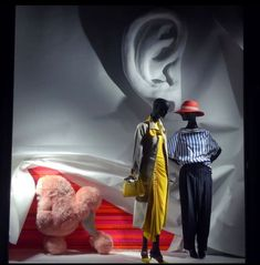 "BERGDORF GOODMAN, Fifth Avenue, Midtown Manhattan, New York City, USA, ""Curtain Call"", photo by Celina Leung, pinned by Ton van der Veer Curtain Call, Bergdorf Goodman, Visual Merchandising, New York City, Window Displays, Superhero, Window Shopping, Deco, Manhattan"