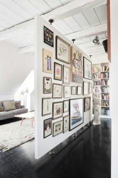 Wall display and floating wall idea
