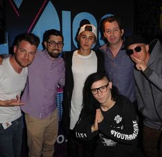 y100miami: Best Monday ever with skrillex diplo and justinbieber stop by for an interview with the Y100 fam!