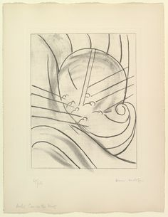 'Aeolus, Cave of the Winds' Éole (one of six etchings illustrating James Joyce's Ulysses) 1934, Henri Matisse