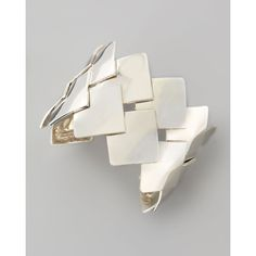 Dina Mackney Woven Sterling Silver Cuff (1,070 CAD) via Polyvore