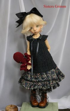 Bjd clothes Dress set, Halloween Witch for Kaye Wiggs Layla or other MSD some SD like Tobi May fit Dolfie or Volks