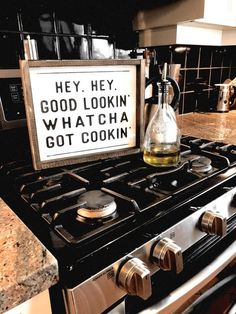 Hey Hey Good Lookin Whatcha Got Cookin 10 quot; x 12 quot; + Made from quality wood Rustic Kitchen Decor, Farmhouse Style Kitchen, Modern Farmhouse Kitchens, Home Decor Kitchen, Home Decor Bedroom, Living Room Decor, Farmhouse Decor, Kitchen Ideas, Bedroom Ideas