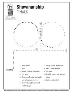 Horse show patterns   Showmanship finals pattern for the 2016 Ford Youth World.