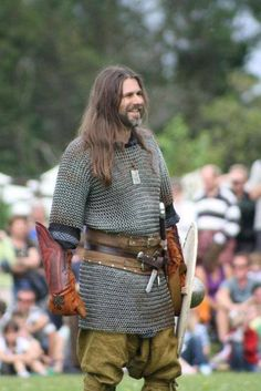 One of the few forgiving ways to wear long hair - during reenactment.
