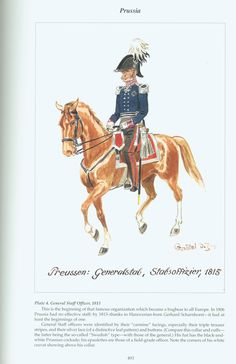Prussia: Plate 4. General Staff Officer, 1815