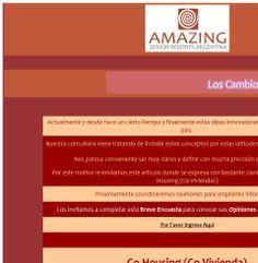 Arq. Paulina Wajngort- AMAZING Senior Resorts - Co-Housing (Co-Viviendas)
