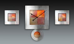 Steel 20 Triptych · approx. 30x48x2 inches by Leonie Lacouette