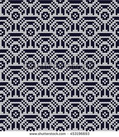 Knitted seamless pattern scales