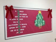Christmas Church Bulletin Boards | My Christmas bulletin board this year