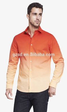 fashion design long sleeves modern fit men's dress shirt