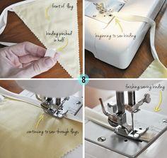 DIY Fabric Bunting Flags Tutorial
