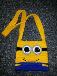 minion slipper pattern | Minion bag | Crochet - Purses, Bags, and Totes
