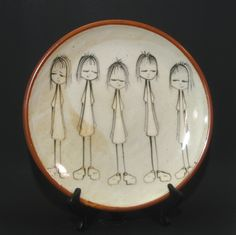 Girl Platter. patty bilbro, via Etsy.