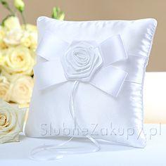 PODUSZKA na obrączki Kolekcja Biała Róża  #slub #wesele #sklepslubny #dekoracje #slubnezakupy Bed Pillows, Pillow Cases, Pillows