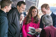 The Duke and Duchess of Cambridge meet residents of the Hazel Grove Estate