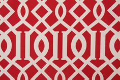 Richloom / John Wolf Kirkwood Printed Polyester Outdoor Fabric in Cherry $6.95 per yard