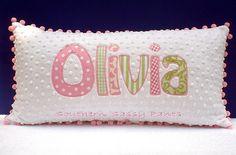 Name Applique Minky Pillow