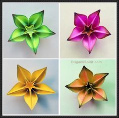 This paper craft is a Butterfly origami, designed by Carmen Sprung, and the video tutorial by Sara Adams. This step-by-step video instruction showing how to make this origami Carambola:   Source: