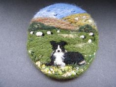 Handmade needle felted brooch/Gift 'Good Girl, Gwen' by Tracey Dunn