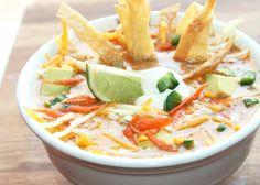 Creole Contessa: Smoked Chicken Tortilla Soup use non dairy milk and GF flour Great Recipes, Soup Recipes, Dinner Recipes, Favorite Recipes, Healthy Recipes, Tortilla Recipes, Cooker Recipes, Healthy Meals, Recipe Ideas