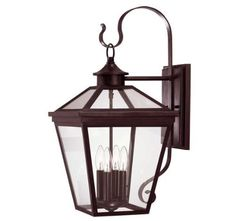 Savoy House Ellijay English Bronze Wall Mount Lantern by Savoy House. $180.00. An eye-catching collection of outdoor lanterns, perfect for the cottage looks of today. Finished in English Bronze with clear glass on the hood and an open bottom, Ellijay is an outstanding family providing high style at an unbelievable price. 5-142-13. Save 52% Off!