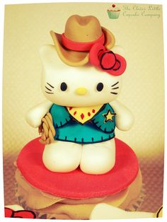 Hello Kitty Cowgirl Cupcake by The Clever Little Cupcake Company (Amanda), via Flickr