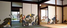 ANA の機内誌のコラム『道草の眦』で取り上げられていた 東山青蓮院門跡にある木村英輝さんの襖絵 うつくしい