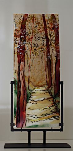 Path of Warmth and Shade, Fused Glass by Alice Benvie Gebhart