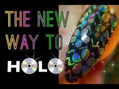 The NEW Way to HOLO (Holographic) Your Nails - YouTube