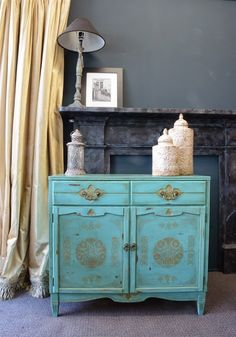 Moroccan Inspired Cupboard Chalkpaint/stencil Makeover