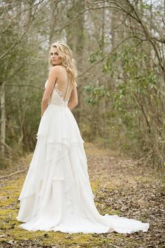 Lillian West - Style Sequined Lace Bodice with Illusion Back and Soft Tiered Skirt Lillian West, Fit And Flare Wedding Dress, Boho Wedding Dress, Wedding Dresses, Sophia's Bridal, Bridal Gowns, Cinderella, Prom Dress Shopping, Bridal And Formal
