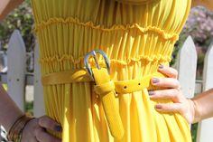 Yellow Smocking Dress