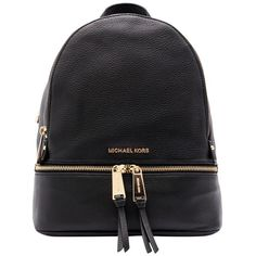 421303e290f5 Michael Kors Black Medium Rhea Backpack (£290) ❤ liked on Polyvore  featuring bags