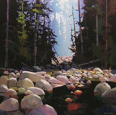 Michael O E Toole www,tuttartpitturasculturapoesiamusica,com () Watercolor Landscape, Abstract Landscape, Landscape Paintings, Painting Abstract, Canadian Painters, Canadian Artists, Contemporary Landscape, Contemporary Artists, Forest Art