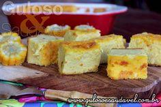 #BomDia! Este Bolo de Milho Cremoso na Travessa faz sempre sucesso! É super simples de fazer, #SemGlúten e #Diet.  #Receita aqui: http://www.gulosoesaudavel.com.br/2015/06/25/bolo-milho-cremoso-travessa/