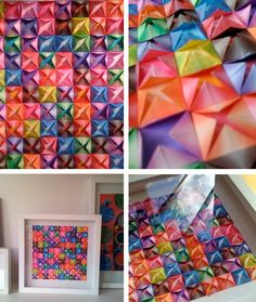 If you're a long-time reader here, you may remember that Roxy (aged 7) is somewhat obsessed with origami. When she discovers a new thing to make she'll fold dozens of them. Last year when she was six she had a thing about origami fish, so I created an installation in the hall near our front …