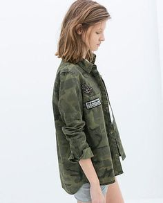 New Women's Lapel Camouflage Loose Cool Shirt Casual Jacket Coat Gown Skirt SML