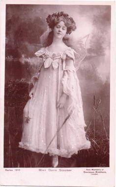 Edwardian Photo Postcard, Doris Stocker as A Fairy