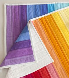 Creativebug-Rainbow Jelly Roll Quilt Top