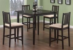 Coaster Dining Table and Stools 5-Piece Set - http://www.furniturendecor.com/coaster-dining-table-and-stools-5-piece-set-counter/ - Categories:Dining Room Furniture, Dining Room Sets, Furniture, Home and Kitchen