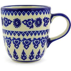 Ceramika Bona H2952G Polish Pottery Ceramic Mug Hand Painted 11Ounce >>> You can get additional details at the image link.